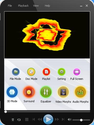 Media Player Morpher default window