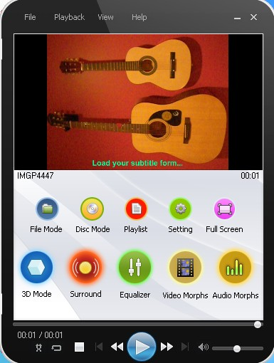 Media Player Morpher playing video