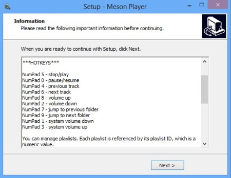 Meson Player instructions