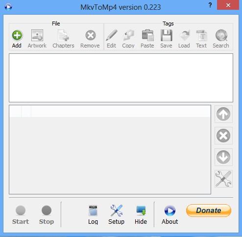 MkvToMp4 default window