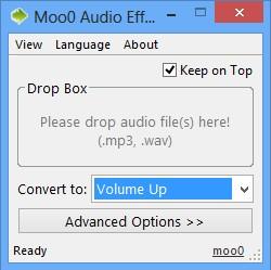 Moo0 Audio Effect default window