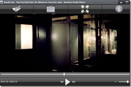 NextGen Media Player 01 free media player for Windows