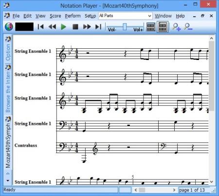 Notation Player default window