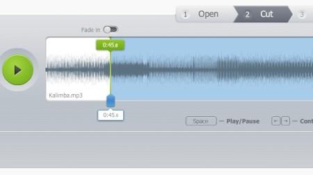 Online Audio Cutter default window