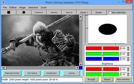 Photo Coloring default window