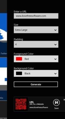 QR Code Creator App Windows 8