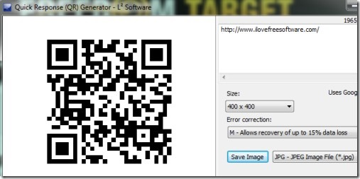 QRGen 01 generate QR codes