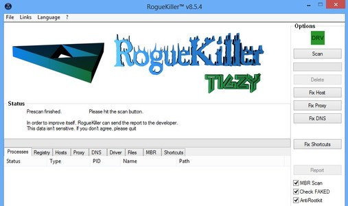 RougeKiller default window