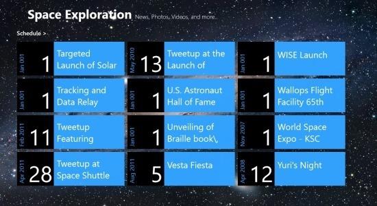 Space Exploration schedule 2013