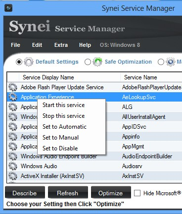 Synei Service Manager manual