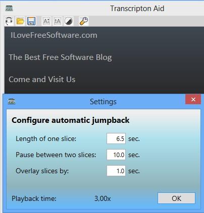 Transcription Aid settings