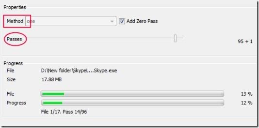 TurboShredder 01 securely delete files