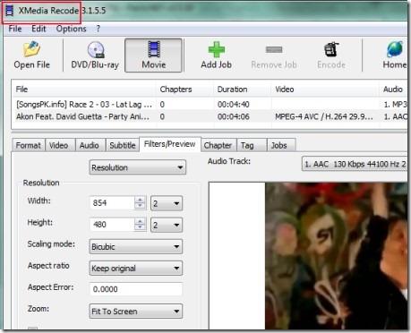XMedia Recode 01 audio video converter