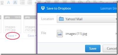 Yahoo Mail integrated Dropbox 03