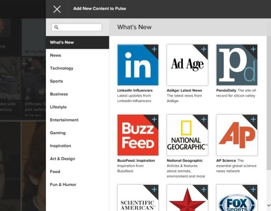 add content to pulse news for windows 8