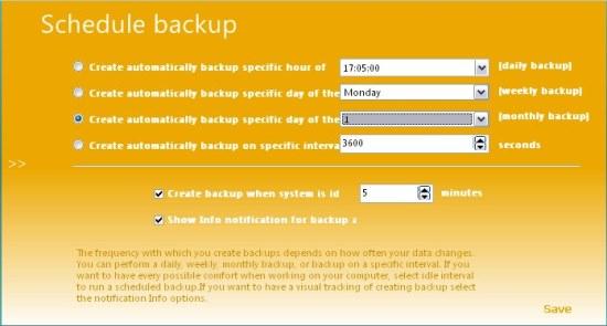 backup master backup schedule
