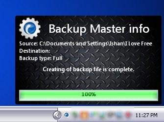 backup master instant backup
