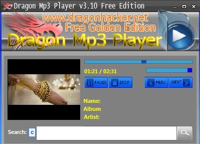 dragon mp3 player video display
