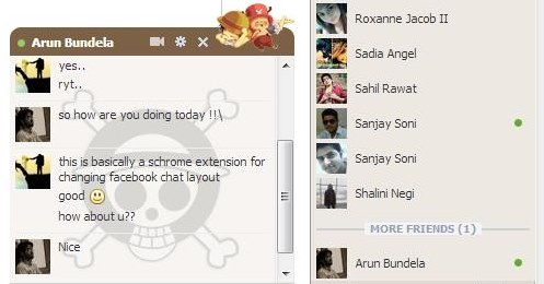 facebook chat layout chatting