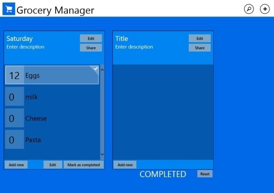 free Grocery Manager App Windows 8