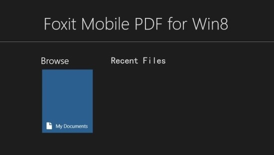 how to use Foxit PDF reader for Windows 8