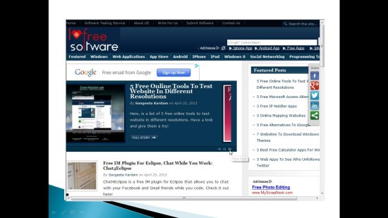 liveWeb slideshow