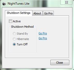 nighttunes interface