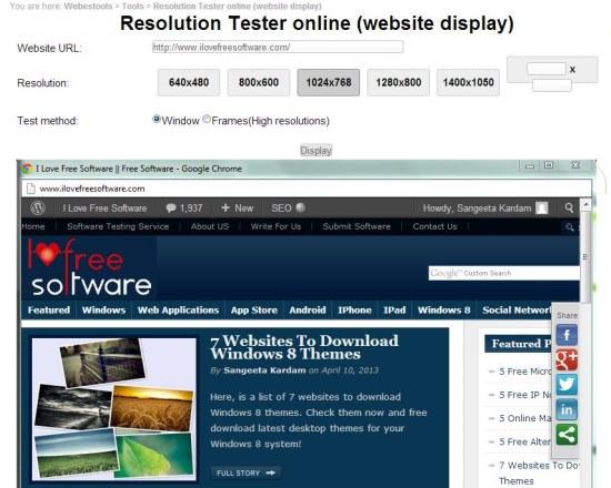 online resolution tester