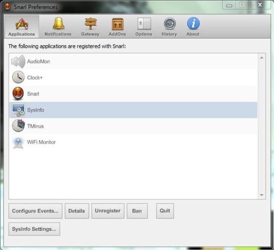 snarl app configuration