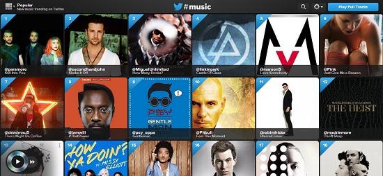 twitter music interface