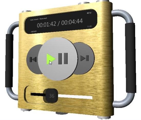 3D Audio Player front