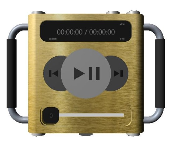 3D Audio Player interface