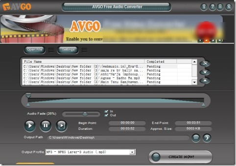 AVGO Free Audio Converter 01 audio video conversion software