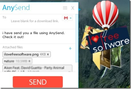AnySend 01 software for sharing large files