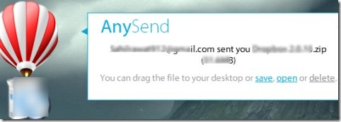 AnySend 04 software for sharing large files