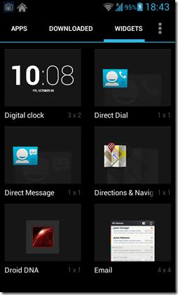 Apex launcher widget screen