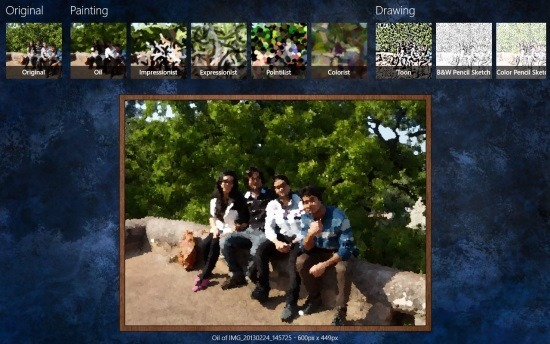 Artistry Free Windows 8 Photo Effect App
