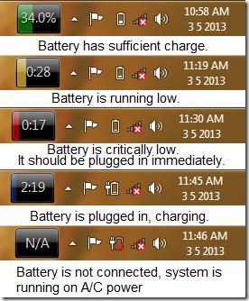 BatteryBar different views