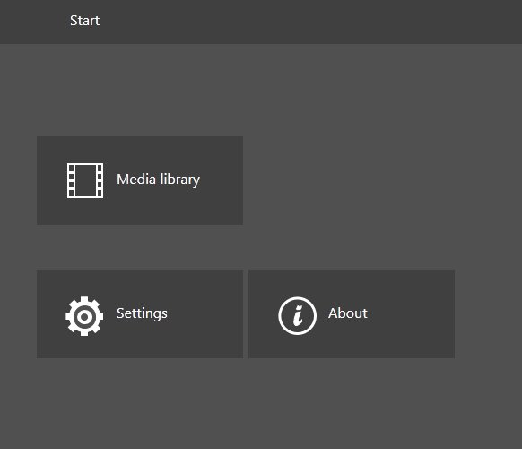 BitGriff Advanced Media Player start menu