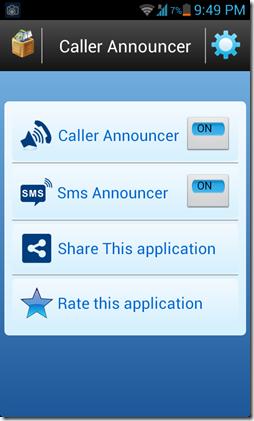 Caller name announcer