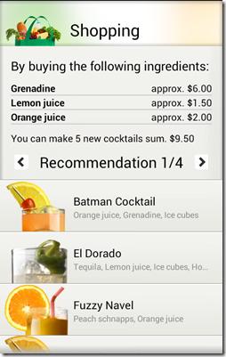 Cocktails I can make.