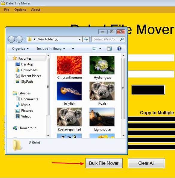 Dabel File Mover moved files