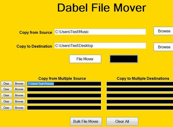 Dabel File Mover setting up