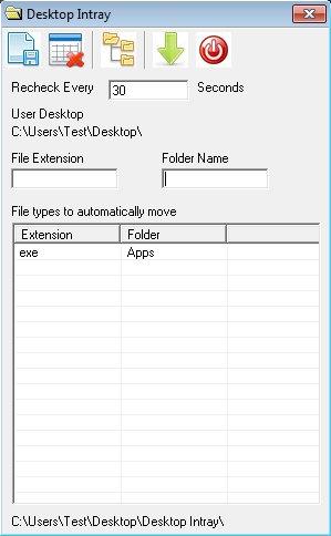 Desktop Intray free desktop organizer default window
