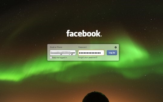 Free Chrome Extension To Customize Facebook Login Page: FB