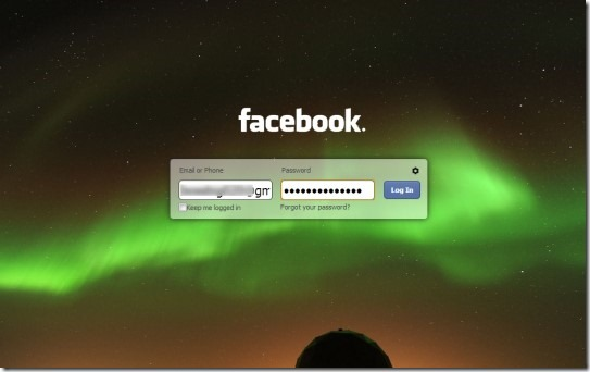 FB Refresh 01 customize Facebook login page