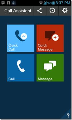 Fake Call & SMS home screen