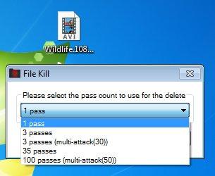 FileKill pass number