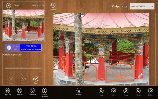 Free Image Editor For Windows 8 PhotoWand