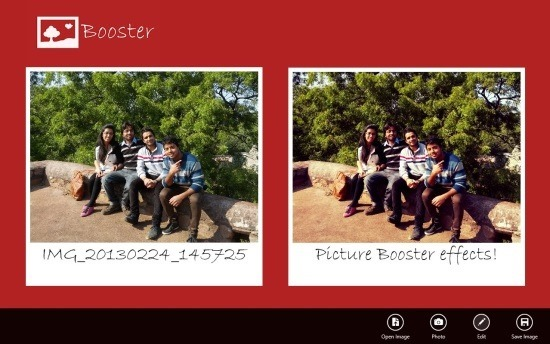 Free Picture Editor app For Windows 8 Picture Booster